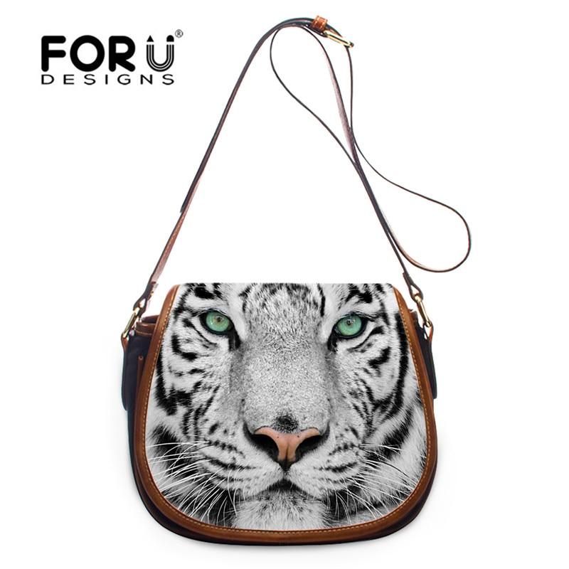 FORUDESIGNS Tiger Owl Mini Woman Messenger Bag,3D Small Women Crossbody Bag,panda Ladies Girls Cross Body Shoulder Purses Bags <br>
