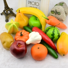 2pcs Big Real Size Foam Artificial Fruit Vegetable For Home Wedding  Decoration Kid Cognitive Toy Dining