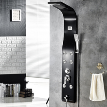 Wall Mounted Shower panel Multi-function System  Temperature Digital Display Massage Faucet Shower Set