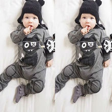 Baby boy clothes kids black cat long sleeve bodysuit toddler coverall infant jumpsuit newborn clothing set fashion casual outfit(China)