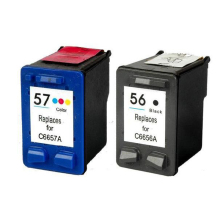 2Pcs For HP 56 57 Ink Cartridges For HP 450 5150 5550 5650 9650 PSC 1315 1350 2110 2175 2210 2410m Printer cartridge for hp56 57