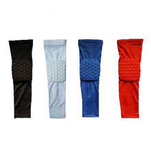 High Quality Basketball Shooting Honeycomb Elbow Pads Protector Support Brace Elastic Sport Safety Arm Sleeve Warmer Pad(China)