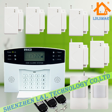 Wireless Home Burglar Alarm GSM Home Alarm System Support English / Russian / Spanish / France / Czech