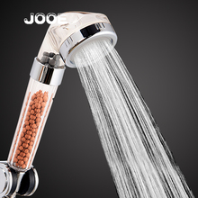 jooe SPA Shower Heads Negative ion round ABS handheld water saving ShowerHead 2016 new home hotel bathroom accessories