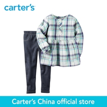 Carter's 2pcs baby children kids 2-Piece Poplin Top & Jegging Set 239G235 ,sold by Carter's China official store