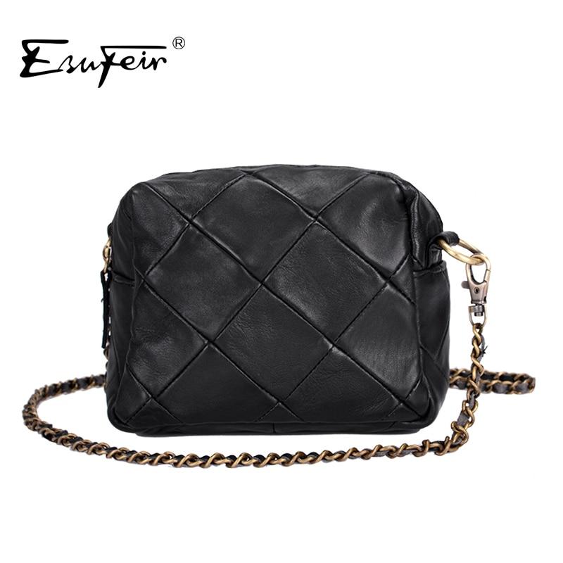 Genuine Leather Patchwork Women Messenger Bag Sheepskin Leather Chain Shoulder Bag Women Crossbody Small Bag bolsas Ladies Bag<br><br>Aliexpress