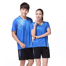 Free Print Qucik dry Badminton sports clothes Women/Men , Tennis suit , table tennis clothes, badminton wear sets 3061(China)