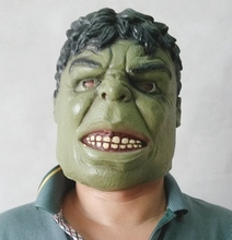 Free Shipping Head green giant rubber latex mask cartoon Hulk mask for carnival and party halloween