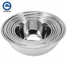 Stainless Steel Deepen Mixing or Food Bowl Set  Baking Salad Bowls Fermentation Pot Kitchen Cooking Tools 7 Sizes