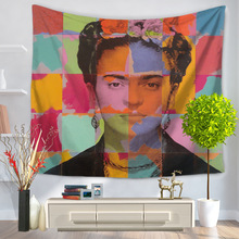Enipate Frida Carlo Self-portrait Tapestry Aubusson Printed Decor Mandala Tapestry Carpet Individuality Frida Carlo Tapestry