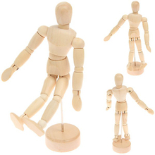 New Fashion Design Small Wooden Flexible Human Model for Manikin Wood Crafts Painting Wood Figure for Mannequin Decoration(China)
