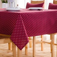 Modern cotton linen blending pastoral fabric tablecloth rectangle square coffee red blue green table cloth custom