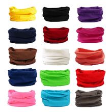 Solid Color Cycling Face Mask Racing Tube Scarf Bandana Head Neck Gaiter Warmer Snood Bicycle Riding Headwear Beanie Hat Caps