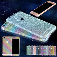 Bling Sticker Case For Apple iPhone 6 6s Full Body Decal Skin Bling Glitter Sticker Phone Cover For iPhone 6 6s Plus Coque Funda