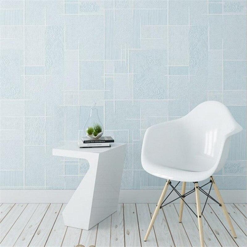 Textile Wallcoverings for Wall Decor Non Woven Luxury Pink Wallpaper Roll Girl Room Blue Wallpaper for Modern Living Room Decor <br>