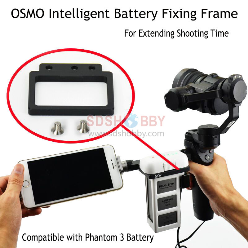 External Battery Fixing Frame Fastening Seat Mount for Time-lapse Photography Fitting Osmo(+)/OSMO Mobile with Phantom 3 Battery<br><br>Aliexpress