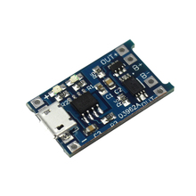10pcs/lot 5V Micro USB 1A 18650 Lithium Battery Charging Board with Protection Charger Module for arduino Diy Kit(China)