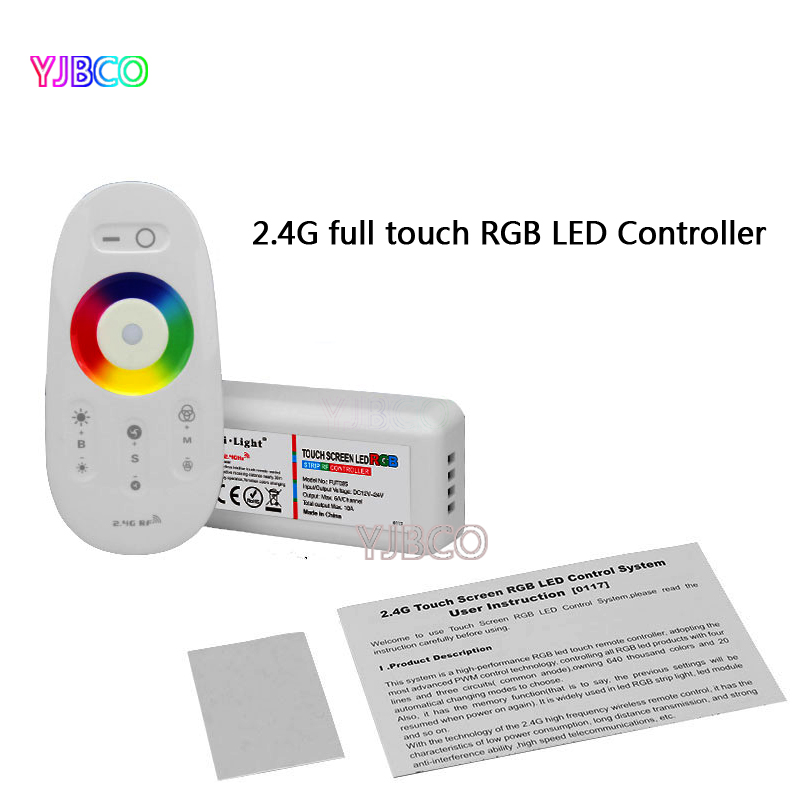 DC12-24V Milight FUT025 2.4G Wireless Touch screen led RGB controller 18A RF remote control for led RGB strip/bulb/downlight/tap(China (Mainland))