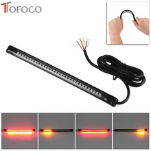 TOFOCO 12V 32 LED 3528 SMD Car LED Tail Rear Brake Stop Turn Signal Flexible Light Strip Red Yellow Color Car styling light