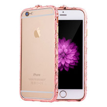 Luxury Delicate Jewelry Bumper for iPhone 5s Diamond Metal Cover for iPhone 5 SE National Frame Case Coque Etui Fundas Capinhas