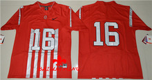 Nike 2016 Ohio State Buckeyes J.T Barrett 16 College 1917 Throwback Limited Ice Hockey Jersey - Red Size S,M,L,XL,2(China)