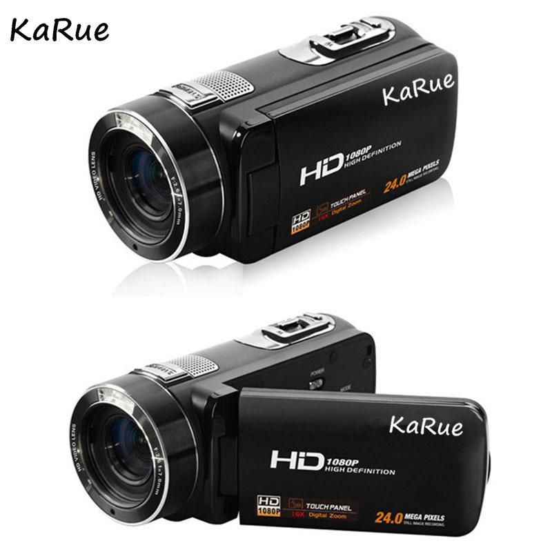Karue HDV-Z816x Digital Zoom Max. 24MP 1080P Full HD Digital Video Camera Camcorder with Digital Rotation LCD Touch Screen 3