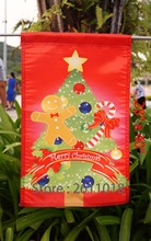 "Merry Christmas Tree Gingerbread Candy Cane Home Garden Flag  - ""18"" x 12.5 ""x 28 to 40 inches"