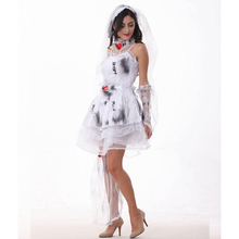 Real Ghost Bride Cosplay Costumes Halloween Set Female Zombie Cosplay Costumes Sexy Vampire Fancy Ghost Dark Bride Disfraces