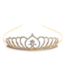 New Fashion Women Girl Wedding Bridal Tiara Rhinestone Crystal Crown Pageant Prom Headband(China)