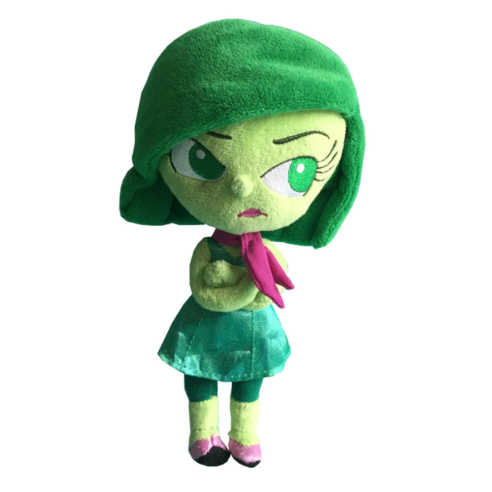 New! Cartoon Movie Inside Out Disgust Plush Toys Pixar Plush Figure 21cm(China)