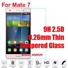 Cheap Explosion Proof Anti-Scratch 9H 2.5D 0.26mm Phone Cell Accessories Glass Screen Protector For Huawei Ascend Mate 7 Mate7