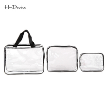 HDWISS Environmental Protection PVC Transparent Cosmetic Bag Women Travel Make up Toiletry Bags Makeup Handbag Organizer Case(China)