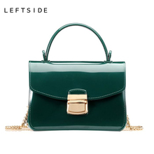 LEFTSIDE 2017 Summer Women Silicone Candy 10 Color Handbags Small Chain Messenger Bag Crossbody Shoulder Bags  Mini Jelly Bag