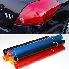 "Auto Car Smoke Lamp Fog Light HeadLight Taillight Tint Vinyl Film Sheet Car Sticker 12"" x 24"" 8P8I"