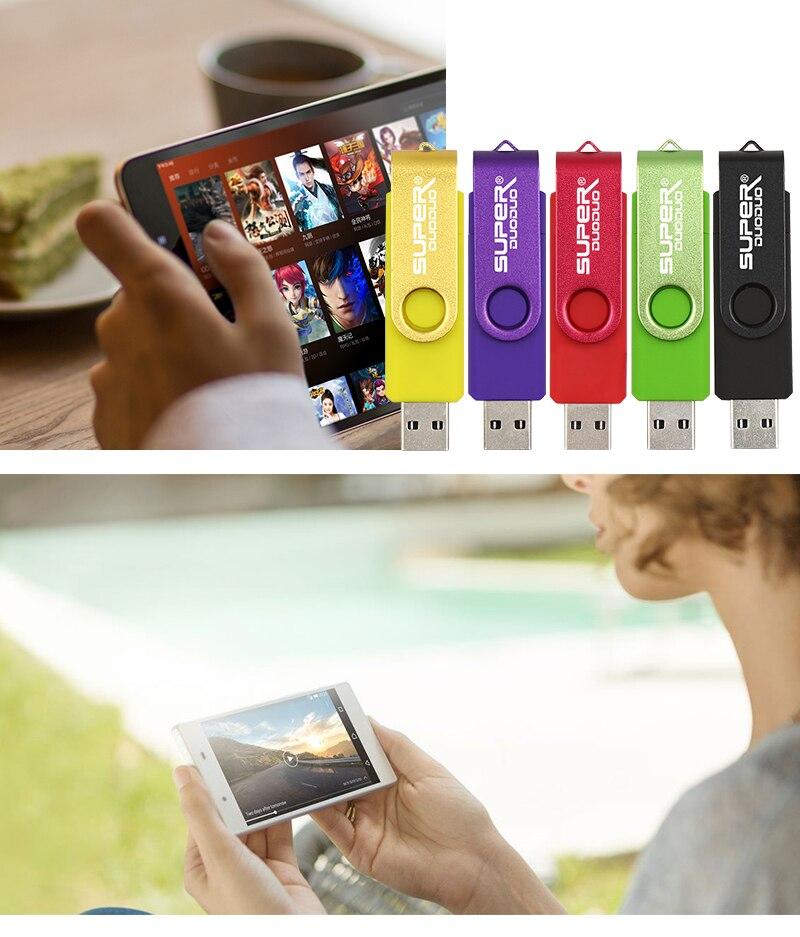 USB Flash drives usb 2.0 pen drive 4gb 8gb 16gb pendrive 32 gb usb memory stick 64gb OTG metal  drive for phone