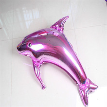 1pcs Big Dolphin Balloon wedding birthday Party decoration Aluminum Foil Balloons high quality Balloons Celebration Supplies 6Z(China)