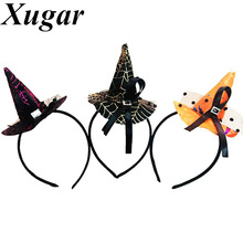 Novelty Halloween Party Witch Hat Headbands for Children Festival Boutique Gift Hairband Girls Hair Accessories(China)