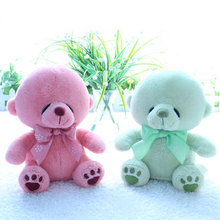 Kawaii Sleeping Teddy Bears Stuffed Toy Soft Pillow Dolls Baby Kids Toys Fresh Green Pink Bear Children Christmas Gifts(China)
