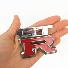 Car Styling GTR Metal Chrome 3D Emblem Badge Sticker GT-R Logo Decal Decoration For Nissan Racing Sport BMW M3 Ford Mustand Benz