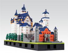 One piece 2015 The New Arrival WEAGLE Building Blocks New Swan Stone Castle Sets Model Bricks the Best Educational for Children(China)
