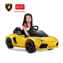 Rastar Kids 6V Electric Ride on Toy Car Lamborghini Aventador LP700-4 Four Wheel Vehicle Parent Remote Control Hot Children Toys(China)