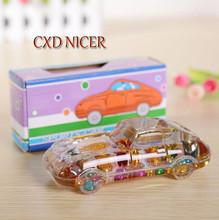 Crystal Car Inserted Pen Pencil Holder Home Office Ornaments Pen Holder Stand For Pens Office Tools Container Dd1763(China)