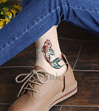 Waterproof Temporary Tattoos sticker Chinese painting lucky fish tatoo Transfer fake tattoo flash tattoo 10.5*6 cm for man woman