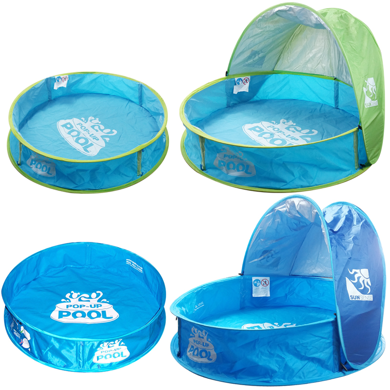 Plastic Tarpaulin Support patchwork Foldable With awning Round Do not inflate the swimming pool Ball pool Toy pool97*26*63cm<br>