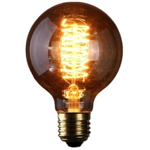 Lightinbox  anchors E27 60w 220V Edison tungsten filament glass bulb vintage Retro antique Style Light Lamp