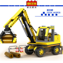 COGO Engineering car Boy Kids Building Blocks Model Toys crane Cement truck Dumpers DIY Assemble Children Learning Education Toy(China)