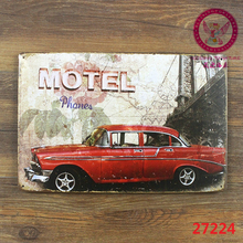 Motel! tin signs vintage metal plate wall decoration for home bar cafe garage and so on