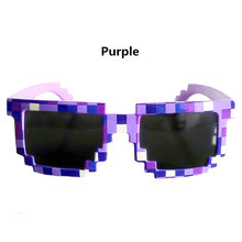 Vintage Children Glasses 8 bit Pixel Women Men Sunglasses Female Male Mosaic Sun Glasses kids Boys Girls