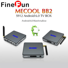 BB2 Android TV Box Amlogic S912 2GRAM +16G ROM Octa Core 4K x 2K H.265 Decoding 2.4G + 5G Dual Band WiFi Bluetooth4.0 HDD Player