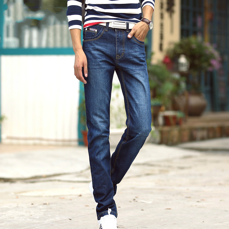 Spring Autumn Classic Blue Casual Jeans Mens Denim Jeans Men Pants Stretch Famous Brand Mens Skinny Jeans Designer Jeans MensÎäåæäà è àêñåññóàðû<br><br>